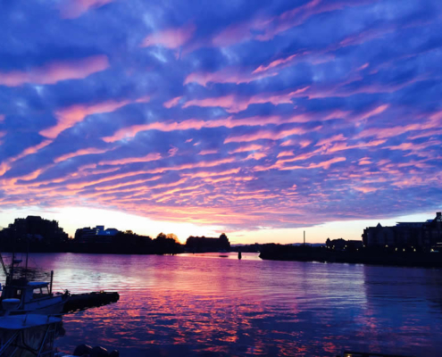 Sunset on the Inner Harbour Victoria BC